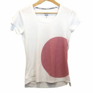 Nike Women's White Dri-Fit Running Shirt - Small